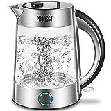 Glas Wasserkocher, PHONECT Wasserkocher 1.7L Glaswasserkocher mit Filterauslauf, BPA-Frei...