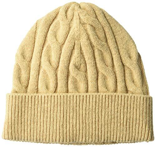 Amazon Essentials Men's Cable Knit Hat, Camel, One Size