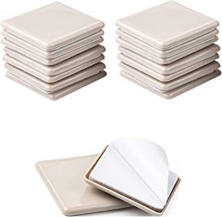 Liyic 16 Pack 2.5inch Self Stick Square Furniture Moving Sliders for Carpet 2-1/2