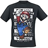 Super Mario Shirt Mario Kanto Men's T-Shirt Black-2XL