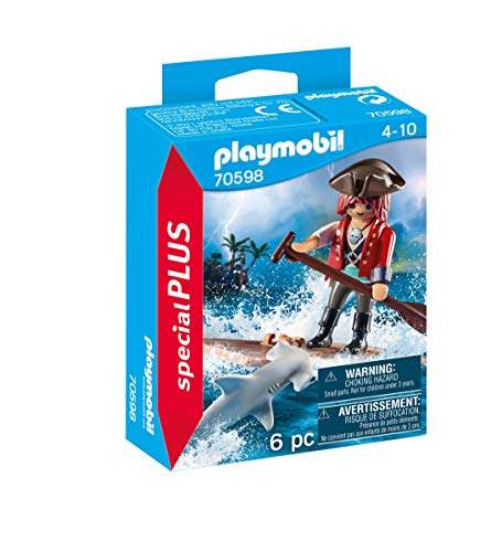 Playmobil - Special Plus - Pirata e Squalo Set di Figurine, Multicolore, 70598