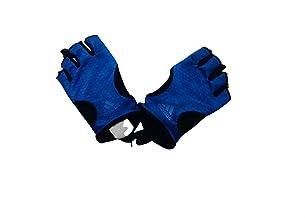 Adidas Half Finger Gloves for Unisex, Blue - L