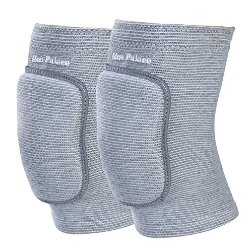Lion Palace Best Soft Knee Pads for Dancers—Biking Football Soccer Tennis Skating Workout Climbing Exercise Work Yoga Pole Dance Volleyball Knee Pads for Women Girls Boys Child (Gray, L)