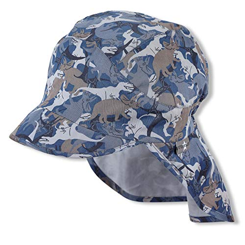 Sterntaler Baby-Jungen m 1622120 Schirmmütze mit Nackenschutz, blau, 49