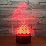 BFMBCHDJ Jouer au billard piscines Snooker 3D lampe de table 7 couleurs changeantes LED NightLight décor de chevet USB nouveauté sommeil cadeaux danniversaire