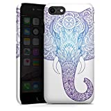 DeinDesign Premium Hülle kompatibel mit Apple iPhone 8 Smartphone Handyhülle Hülle glänzend Elefant Mandala Ornamente