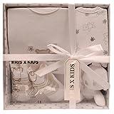 Set de regalo para recién nacidos con mono, babero, peluche y calcetines en una caja de regalo 0-3 meses. blanco blanco Talla:0-3 Meses