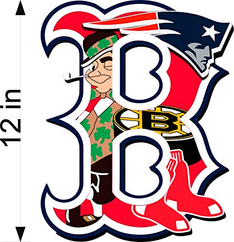Bermuda Shorts Graphics Boston Sports Fan/B Logo / 12' Decal/Patriots/RED SOX/Bruins