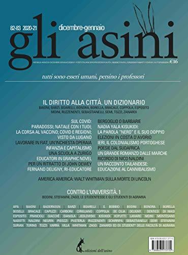 'Gli asini' n. 82-83 dicembre-gennaio 2020-21 (Italian Edition)