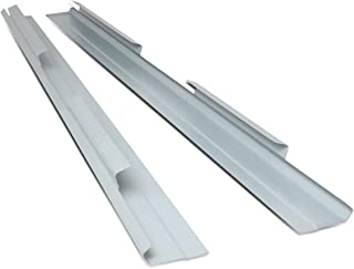 Pair 1/8 Inches Thick Steel Rocker Panel for Chevy Silverado GMC Sierra Crew Cab 01-07