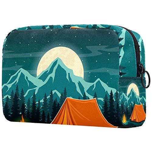 Borsa per pennelli da trucco personalizzata, portatile, da donna, organizer da viaggio per cosmetici, tende in montagna
