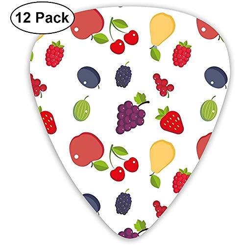 Beautiful Fruit Wallpaper Púas de guitarra Púas Guitarras acústicas Ukulele Picks 12 Pack