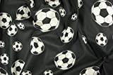 Zanderino ab 1m: Fußball, Druck, schwarz-Weiss, 140cm