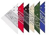 BOOLAVARD 100% Cotone, 1, 6 o 12 Confezioni Bandane con Motivo Paisley Originale | Scelta di Colore Headwear Sciarpa / Capelli della Testa del Nastro Wrap Collo Polso Cravatta (Nero, Rosso, Blu, Bianco, ecc) (6 Set Misto 2)