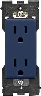 Leviton RER15-RN Renu Tamper-Resistant Outlet, 15-Amp, 125VAC, Rich Navy