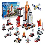 Deep Space Shuttle Toy Building Kit with Launch Control Model Rocket Building Set,Fun STEM Toys for for Creative Play,Birthday Gift, for Boys and Girls 6-12 Year Old(566 pcs)