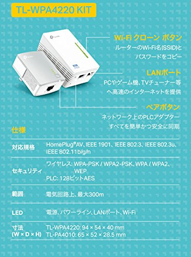 TP-LINK『TL-WPA4220KIT』