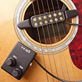 XKSIKjian's Guitar Accessorie, QH-6A Folk Sound Hole Pickup Magnetic Preamp...