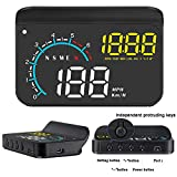 Car Head Up Display,FSVEYL Upgraded Dual Mode HUD OBD II/GPS with Speed,Engine RPM,Overspeed