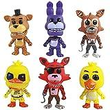 LLMZ 6pcs Five Nights at Freddy'S, Five Nights At Freddy Modelo de decoración Modelo de Personaje Animado Regalo (4-5 Pulgadas)