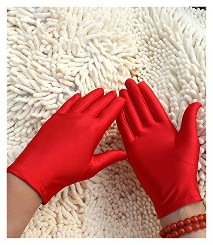 LYB Guantes de Spandex Spandex Ultra-Thin Spandex Guantes de la Etiqueta de Las señoras Guantes de la joyería de la Danza (Color : 3)