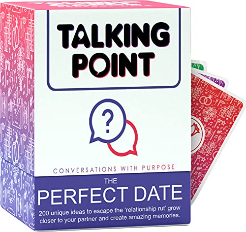 Couple Games for Date Night Ideas - 200 Card Date Night Box of Creative & Unique Date Ideas in 5 Categories - For New & Long-Term Relationships - Fun Date Night Games Gift for Couples & Pa...