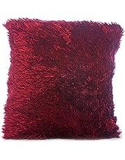 Taraf Burgundy 45 X 45 cm Velour Cushion