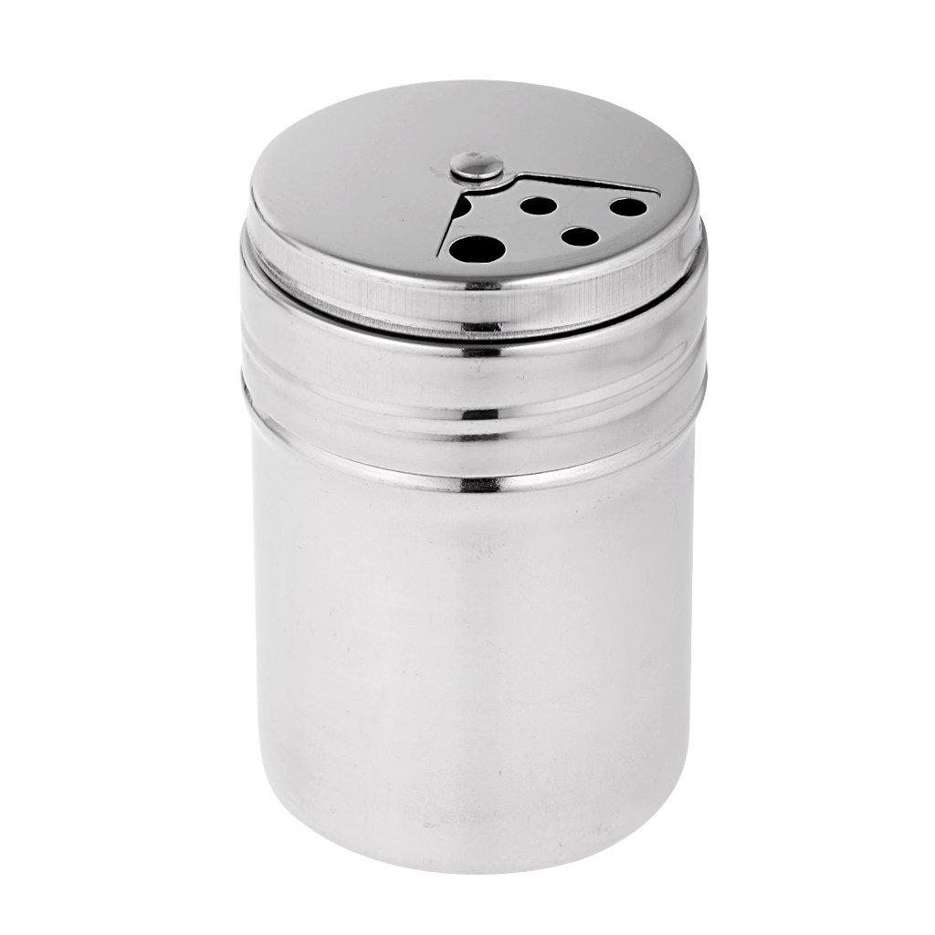 joyMerit 6 Piezas De Acero Inoxidable Que Acampan Picnic Salero Pimentero Condimento Dispensador Tarro Botellas