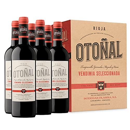 BODEGAS OLARRA, S.A. Otoñal - Vino Tinto Vendimia Seleccionada, Vino Rioja Joven y Diferente, Pack de 6 Botellas de 750 ml