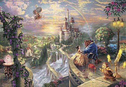 AQAAQ Rompecabezas Puzzle Adultos Y Niños Jigsaw Puzzle De 1500 Piezas De Madera Juego Intelectual DIY La Bella Y La Bestia Madera Classic Rompecabezas Regalo
