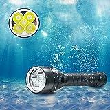 BESTSUN Buceo Linterna, 5000 Lumens Linterna de Buceo Recargable Linternas de Submarinismo Impermeable 100 Metros Luces Sumergibles