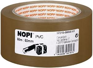 NOPI Verpakkingstape, bruin, 66 m x 50 mm