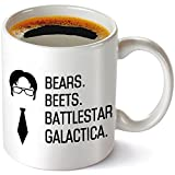 Bears Beets Battlestar Galactica Funny Coffee Mug 11OZ, The Office TV Show Mug, Unique Birthday Gift For Dwight Schrute Fans, The Office Mug.
