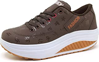 Zapatos Deportivos de Mujer con Cordones Cuñas Impermeables Calzado Zapatillas Jogging al Aire Libre Zapatillas Deportivas...