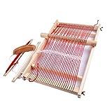 Webrahmen Set, Holzwebstuhl DIY Multifunktional Weaving Loom Kit Holzwebrahmen Webstuhl Für Erwachsene Kinder, 40X25CM