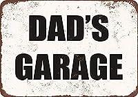 お父さんのガレージ メタルポスタレトロなポスタ安全標識壁パネル ティンサイン注意看板壁掛けプレート警告サイン絵図ショップ食料品ショッピングモールパーキングバークラブカフェレストラントイレ公共の場ギフト