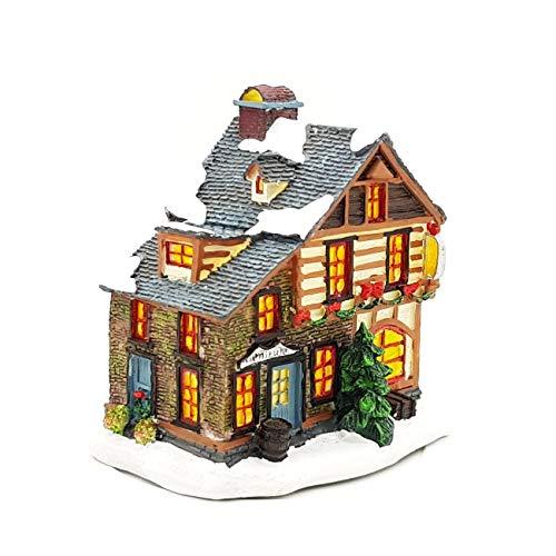 Wichtelstube-Kollektion LED Spieluhr Weihnachten Weihnachtshaus beleuchtet + Melodie