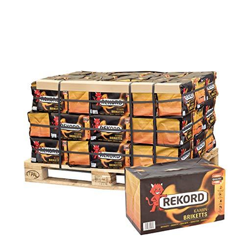 PALIGO Braunkohle Briketts Kohle Heiz Brikett Kamin Ofen Bündel 10kg x 50 Gebinde 500kg / 1 Palette Rekord