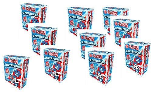 Slush Puppie Eisstangen, 80 x 62 ml, Blauer Himbeer- und Erdbeergeschmack