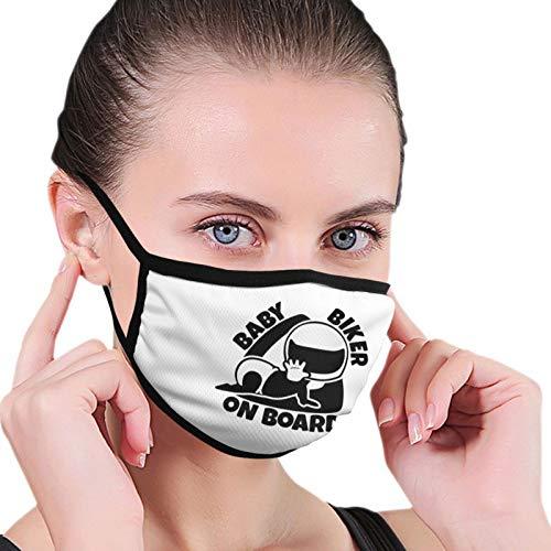 Baby Biker On Board Fashion Washable Breathable Reusable for Women Balaclava Face Mask Black