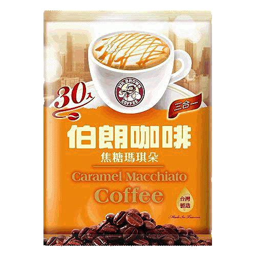 Mr. Brown 3 in 1 Instant Coffee 30 Sachets (Caramel Macchiato, 2 Packs)