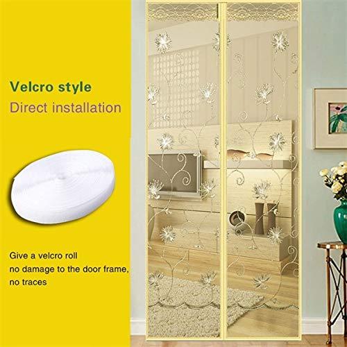 Haushalts DIY Sommer magnetische Türnetz Anti-Moskito und Fliegen Vorhänge schließen die Tür Bildschirm Küche Zimmer Vorhänge A5 B90xH210