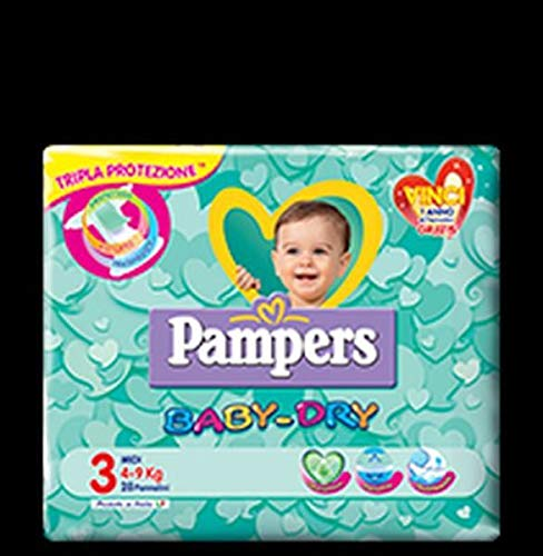 3x Pampers baby dry Gr.3 20 Windeln 4-9 kg kinder baby diapers Packung