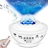 iNeego Proyector Estrellas 2 en 1 Proyector Galaxia LED de Luz Nocturna Giratorio, Lámpara de Nocturna Estrellas, 10 Modos Proyector LED Color Reproductor de Música, con Bluetooth Temporizador Remoto