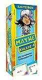 Karteibox Mathe Klasse 4: mit farbigen Karteikarten