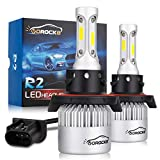 VoRock8 R2 COB H13 9008 8000 Lumens Led Head Iight Conversion Kit, for High Low Beam Bulbs, Dual Beam 2 in 1 Bulbs, Replace Halogen Bulbs, 6500K Xenon White, 1 Pair