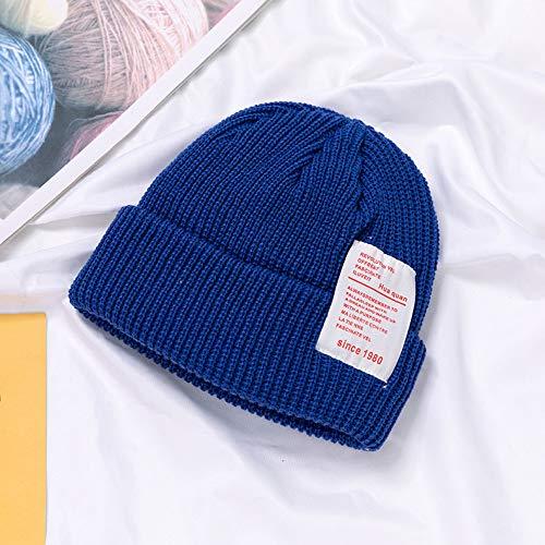 mlpnko Englisch Tuch Standard Kinder Wollmütze Säuglingsmütze Kinder Strickmütze Baby Kopf Mütze Bao blau Code