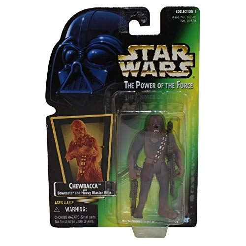 Star Wars Power of the Force Green Hologram Card Chewbacca with Bowcaster and Heavy Blaster Rifle