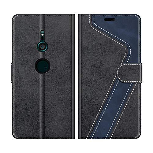 MOBESV Handyhülle für Sony Xperia XZ3 Hülle Leder, Sony Xperia XZ3 Klapphülle Handytasche Case für Sony Xperia XZ3 Handy Hüllen, Modisch Schwarz