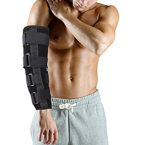 Ellenbogenbandage Atmungsaktiv Ellenbogenschoner Stützbandage, Schmerzlindernd bei Arthritis, Brüchen & Verstauchungen, Armschiene Unterstützung(S)